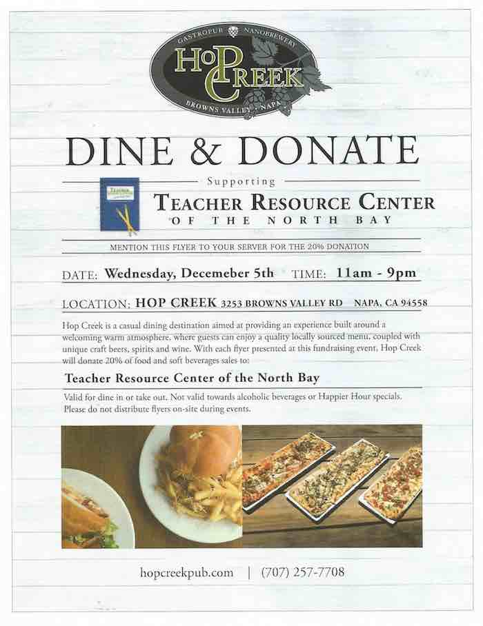 Dine and Donate Flyer