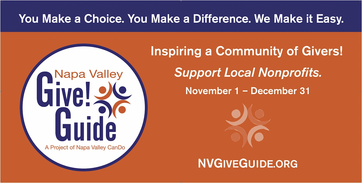 Napa Valley Give!Guide Banner